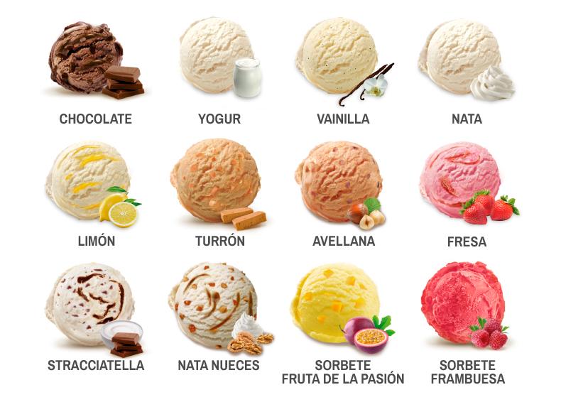 Sabores de helado